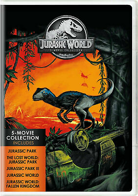 Jurassic World: 5-Movie Collection (DVD, 2018, 5-Disc Set)New, SHIPS FIRST CLASS