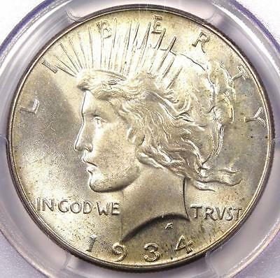 1934 Peace Silver Dollar $1 - PCGS MS64 PQ - Rare in MS64 - Nice Luster!