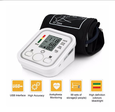 Electronic Arm Blood Pressure Monitor With Voice Function LCD Digital Screen