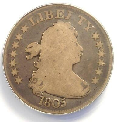 1805 Draped Bust Quarter 25C - ANACS G6 - Rare Date - Certified Coin!