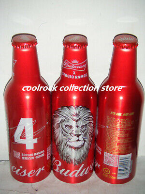 China 2019 Budweiser Beer Chinese valentine/'s day Empty Aluminum bottle of  2