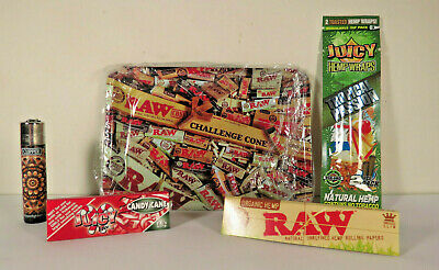 *New* Raw Collage Metal Rolling Tray Bundle *Free US Shipping*