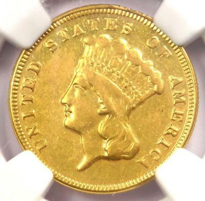 1872 Three Dollar Indian Gold Coin $3 - Certified NGC XF Details - Rare Date!