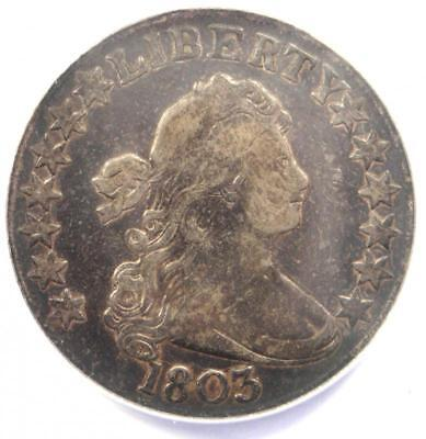 1803 Draped Bust Half Dollar 50C Large 3 - ANACS VF20 - Rare Certified Coin!
