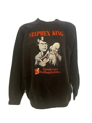 RARE Vtg Stephen King The Dark Half Book Promo Sweatshirt- Horror Clown Bog&idé