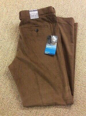 Mens MARKS and SPENCER W32 L31 Brown Cords Corduroy Chinos Trousers New