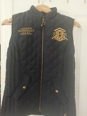 Joules Ladies BURGHLEY HORSE TRIALS Navy size Bnwt.