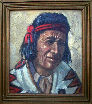 "30% OFF Taos New Mexico Oil BEN TURNER Male Indian at Pueblo 13""x12"""