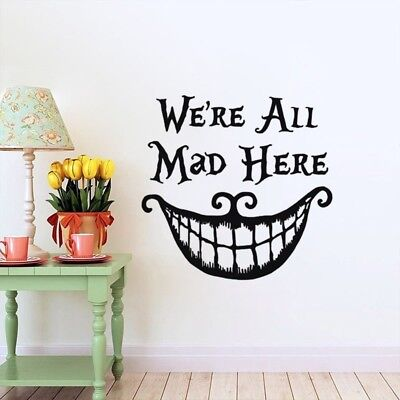 We're all Mad Here Alice In Wonderland Vinyl Decal Sticker for Car Decor NRZ