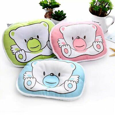 Bear Pattern Baby Pillow Newborn Infant Cushion Prevent Flat Head Baby Support
