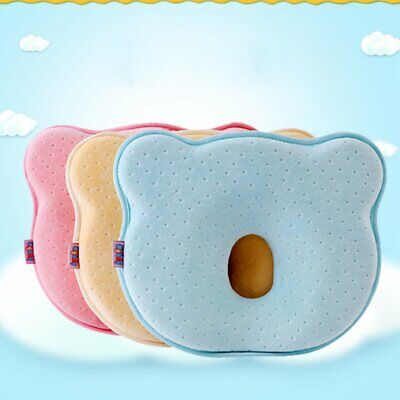 Infant Baby Cot Pillow Newborn Anti Flat Head Cushion for Crib Bed Neck Support