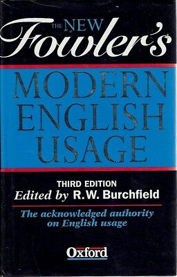 The New Fowler's Modern English Usage by Burchfield R. W - Book - Hard Cover