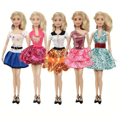Fshion Doll Clothes Casual Wear Outfit Skirt Party Dresses Gown For Barbie Doll