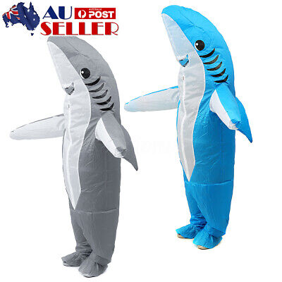 AU Adult Funny Shark Inflatable Animal Fancy Scary Dress Up Costume Party Decor
