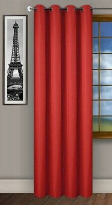 Ready Made Curtain Single Panel Red Eyelet Ring Top
