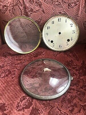 Vintage Clock Glass Face Cover x 2