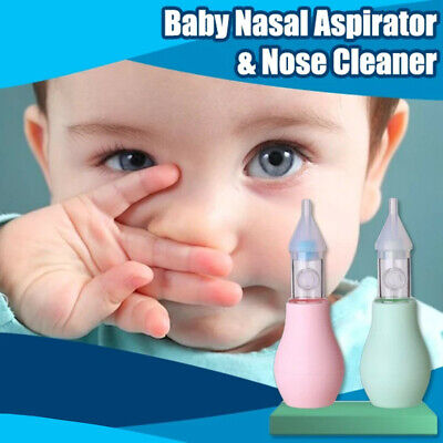 Baby Nasal Aspirator & Nose Cleaner Mucus Aspirator Infant Booger Snot Sucker HY