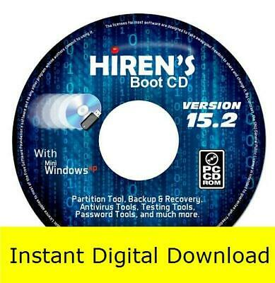 Hirens Boot CD 15.2 Bootable Tools Windows Linux ISO (Download Only)