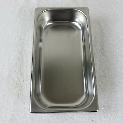Vintage 50s Stainless Steel Hotel Food Pan Steam Buffet 2 3/4 QT Made in USA