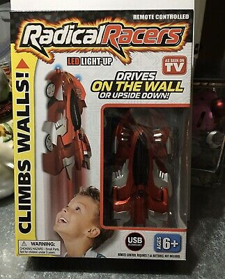 Radical Racers - Remote Controlled Wall-Climbing Car - As Seen on TV, Red ! NEW