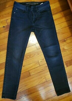 American Eagle Extreme Flex 29x30 Mens Distressed Colored Black Skinny Jeans