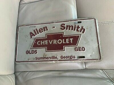 Chevrolet Dealers In Ga >> Dealer Tag License Plate Allen Smith Chevrolet Summerville