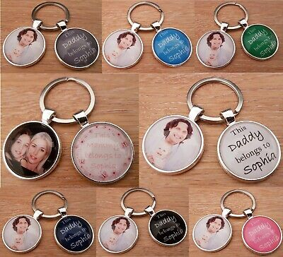 Personalised Photo Keyring Mammy Daddy Uncle Auntie Nana Grandma Photo Keyring