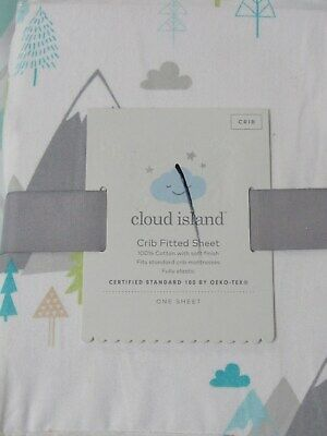 Cloud Island Mountains fitted crib sheet nursery bedding cotton new #28949