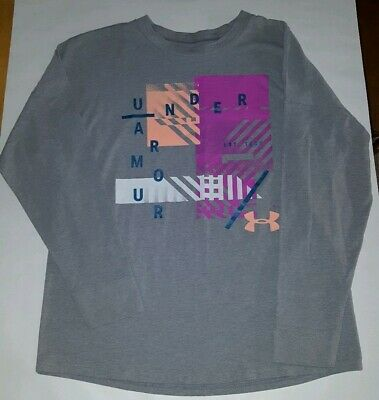 Girls Size Youth Large Under Armour Long Sleeve Shirt New Without Tags HeatGear