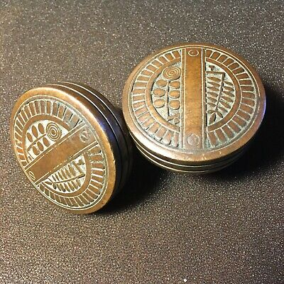 Antique Pair Of Nashua VICTORIAN Eastlake  Cast Bronze Dolor Knobs