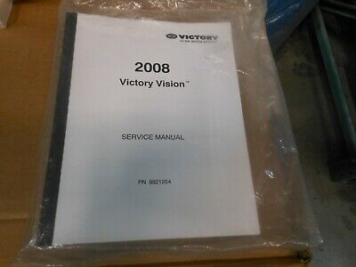 NEW OEM PURE Victory Vision 2008 Service Manual Book # 9921254