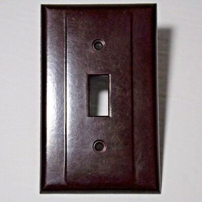 Switch plate brown bakelite Vintage NOS mid century Smith & Stone Canada