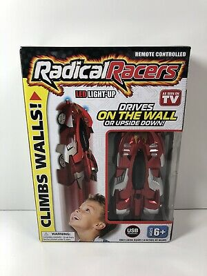NEW 2019 EMSON Radical Racers Red Climbing LED Light-up Remote Control Race Car