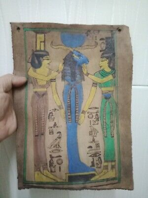Khneom. Holy ram Ancient Egyptian civilization.. leather