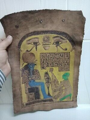 Horus symbol of good and justice civilization of ancient Egypt..leather