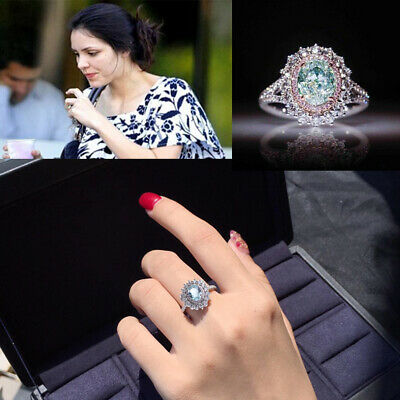 Fashion Women Engagement Rings Wedding Cubic Zirconia Silver Plated Ring Jewelry