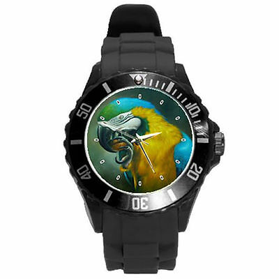 White Black Yellow Pink Grey Purple Lime Green Pink Brown Parrot Watch