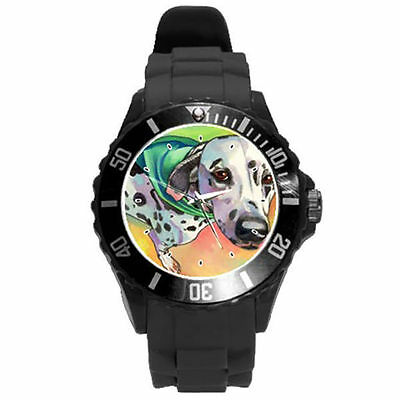 White Black Yellow Grey Purple Lime Green Pink Dalmation dog Color Watch