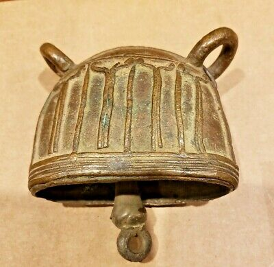Ancient Old Chinese Tibetan Bronze Brass Asian Table Bell