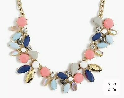 Bold New Statement Necklace with Vivid Green /& Blue Rhinestones #N2660
