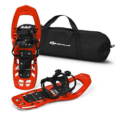 22inch Lightweight All Terrain Snowshoes for Men Women w/ Bag Anti Slip Red