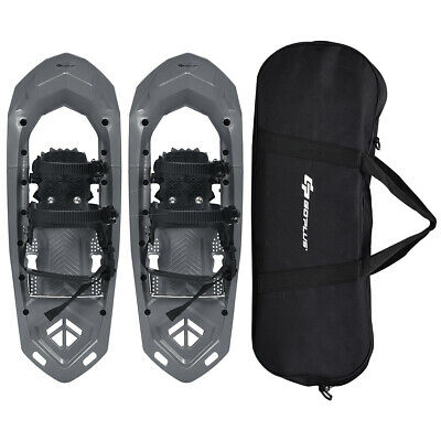 25inch Lightweight All Terrain Snowshoes for Men Women w/ Bag Anti Slip Grey