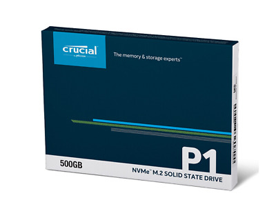 Crucial 500GB SSD M.2 2280 PCIe Gen 3 NVMe 3D NAND Internal Solid State Drive P1