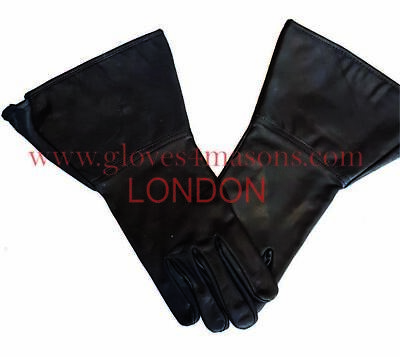 Plain Gauntlet in Real Leather with NO  Darts in Black