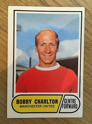 Trade Card Manchester United Bobby Charlton by A&BC Gum 1969 Card no.4 Near Mint
