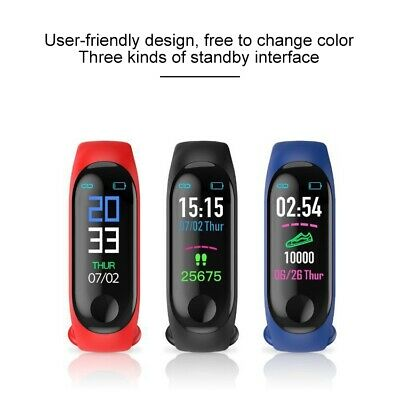 M3 Fit Bit Orologio Smart Watch Braccialetto TIPO Mi Band OLED Touch Bluetooth