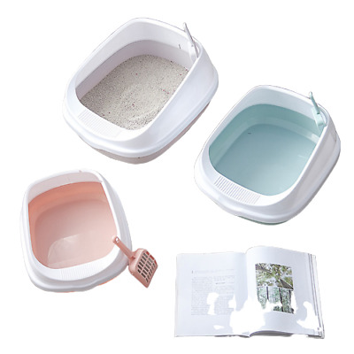 Anti Splash Cat Litter Tray Sifting Toilet Box High Sided Rim Pan Loo with Scoop