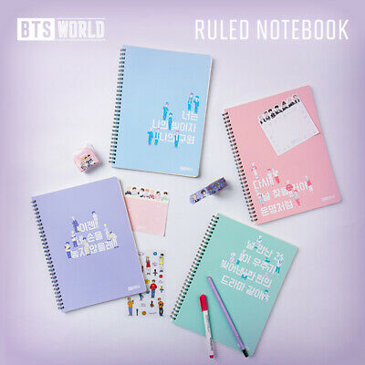 Official BTS World Ruled Spiral Notebook