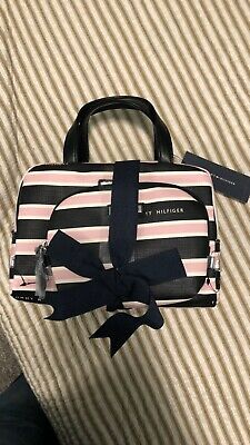 AUTHENTIC TOMMY HILFIGER Train Case Cosmetic bag Carry all