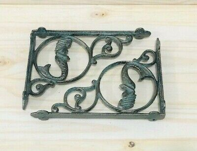 12 Cast Iron MERMAID Brackets Garden Braces Shelf Bracket Corbel Beach Nautical